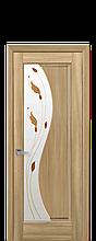 Дверное полотно Эскада Золотой Дуб со стеклом сатин с рисунком Р1