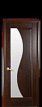 Дверное полотно Эскада Каштан со стеклом сатин