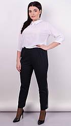 Линда. Модные брюки больших размеров. Черный. 50, 52, 54, 56