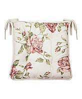 "Подушка на стул ""Large pink Rose"" 40х40"