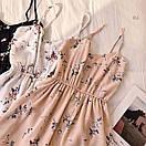 Сарафан-комбинезон из креп-шифона с цветочным принтом, фото 2