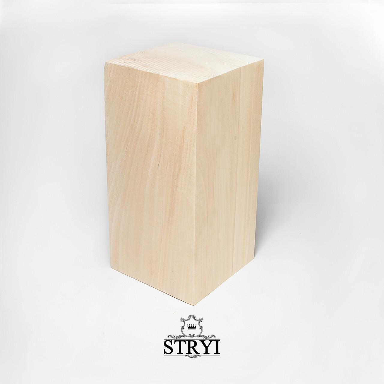 Заготовка бруса из липы 300*150*150, STRYI, для резьбы фигурок, статуэток и других изделий