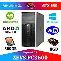 Игровой ПК ZEVS PC3600 +GT630 2GB+8GB RAM+500GB +ИГРЫ!