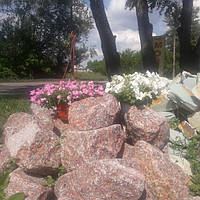 Бутовий гранітний камінь рожевий