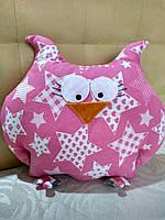 Детская подушка-игрушка Сова. 30 см на 35 см. Спокойный сон обеспечен