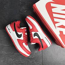 Кроссовки красные с белым мужские Прессованная кожа, фото 3