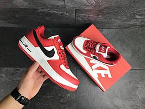 Кроссовки красные с белым мужские Прессованная кожа, фото 2
