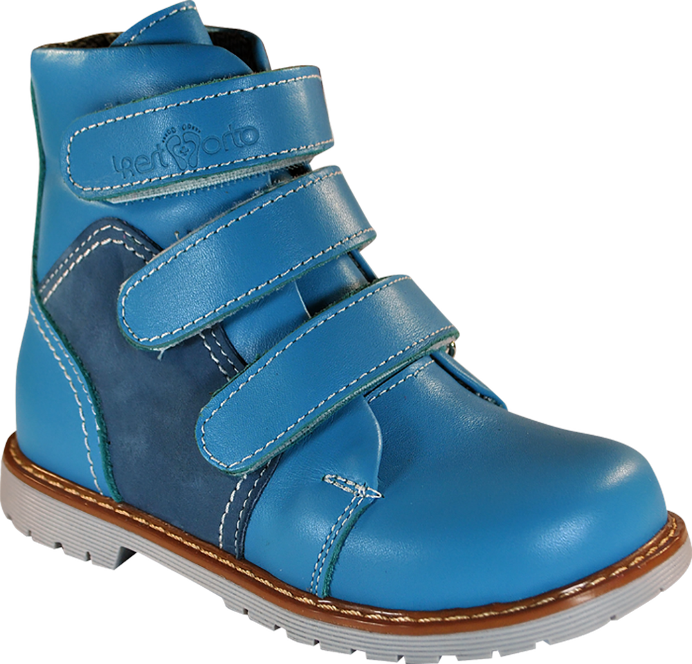 Ортопедические ботинки 06-571, синий-голубой, 25