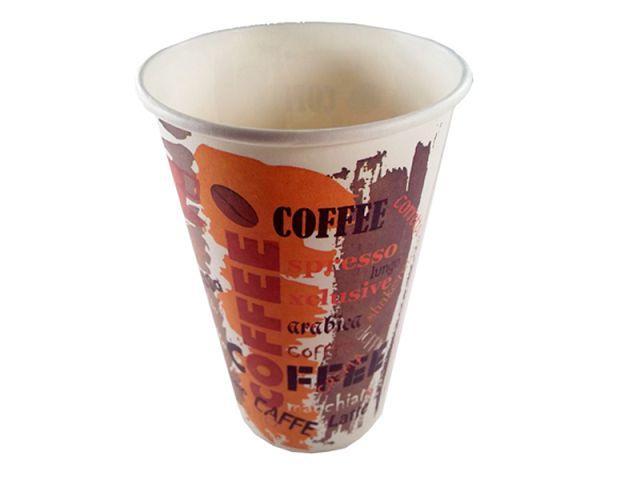 """Стакан картонный цветной для дня рождения, праздника 500 мл """"№210 Coffee"""" Маэстро (35 шт)"""