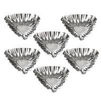 Формочки железные для выпекания тарталеток Треугольник 6см 6шт/наб