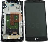 Дисплей для LG H734 G4s Dual Sim/H735/H736 + тачскрин, черный, с передней панелью