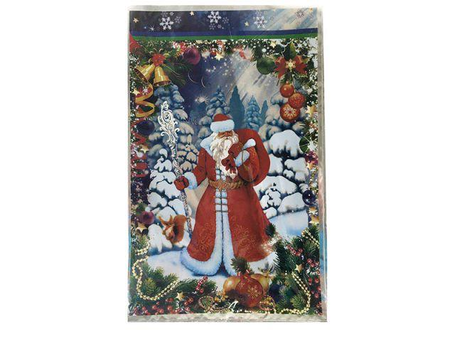 Фольгированный пакет Н.Г (25*40) №12 Дед Мороз с посохом (100 шт)