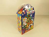 Новогодняя коробка для конфет №102а (Девочка с медведем700) (25 шт)