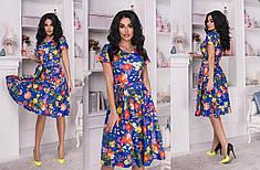 Легкое платье с цветочным принтом