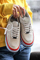 Женские кроссовки Nike Air Force Jester XX SE Light Bone Найк Аир Форс низкие, фото 3