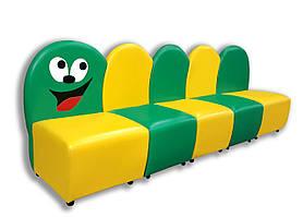 Дитячий диван-крісло Гусениця (1920*460*700h) 5 елементів.