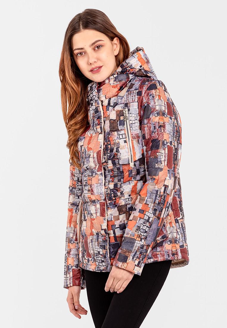 Демисезонная женская короткая куртка на силиконе Modniy Oazis оранжевый 90346/2, фото 1
