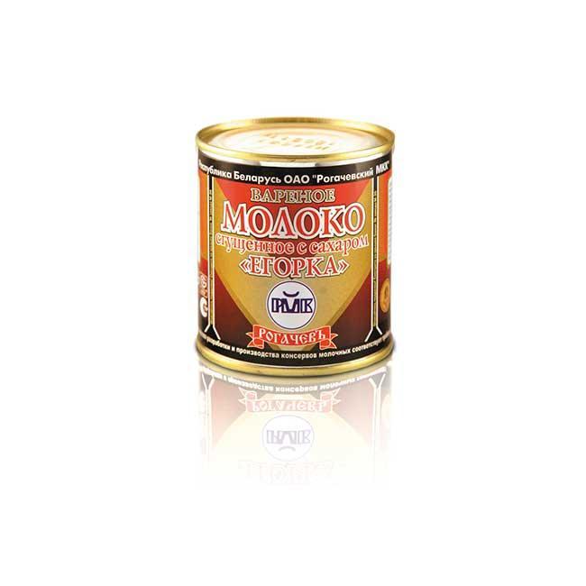 """Вареное белорусское молоко 8,5% сгущенное с сахаром """"Егорка"""" Рогачев 360г"""