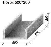 Лоток бетонный водоотводный 500*200*500