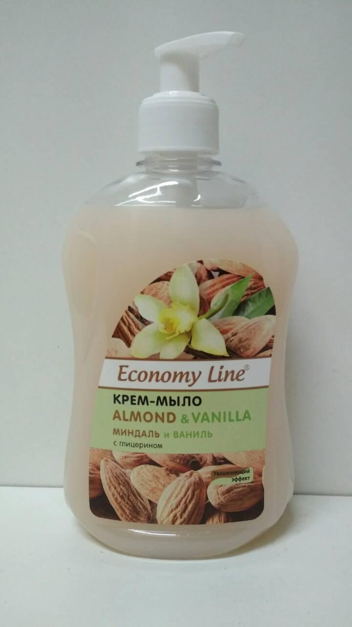 Мыло-гель Economy Line SV 500г Миндаль и Ваниль (курок) (1 шт)