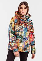 Демисезонная женская короткая куртка на силиконе Modniy Oazis желтая 90346, фото 1