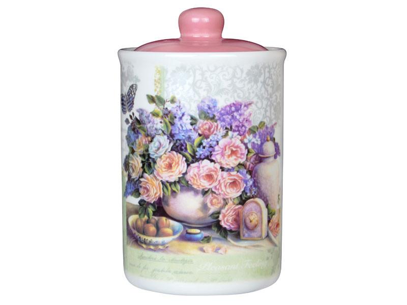 """Банка для хранения """"Розовый букет"""" 16 см, Lefard, 358-836"""