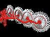"Граблі Ворушилки ""Володар"" на квадратної труби (4 Сонечка, спиця оцинкована)"