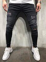 Мужские стильные джинсы, PREMIUM /DENIM/ черные