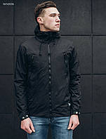 Мужская черная куртка Staff black melange, фото 1