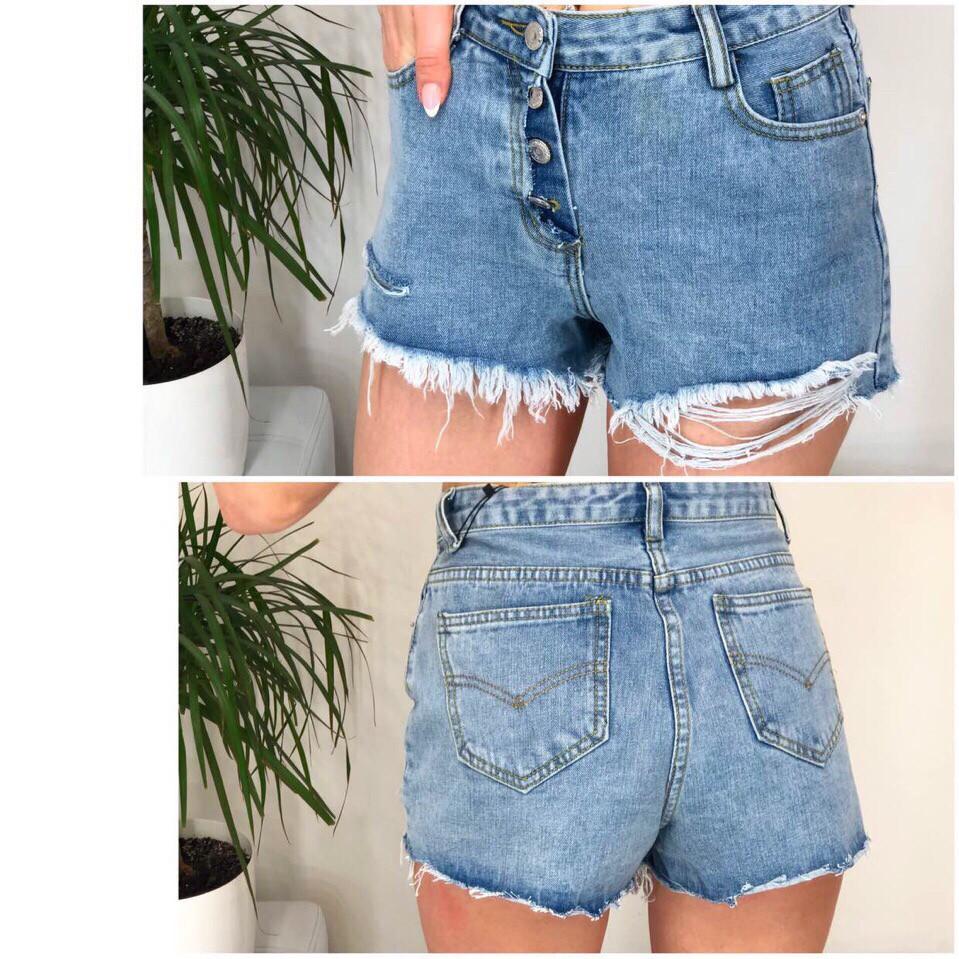 Джинсовые короткие женские шорты
