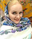 Молитва 353-2, павлопосадский платок шерстяной  с шерстяной бахромой, фото 8