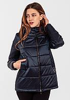 Демисезонная женская короткая куртка на силиконе Modniy Oazis синий 90348, фото 1