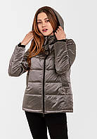 Демисезонная женская короткая куртка на силиконе Modniy Oazis серый 90348/2, фото 1