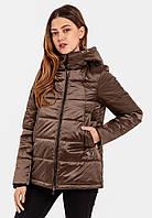 Демисезонная женская короткая куртка на силиконе Modniy Oazis хаки 90348/1, фото 1