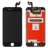 Дисплейний модуль для iPhone 6s в зборі з тачскріном, чорний, з рамкою, Kingwo