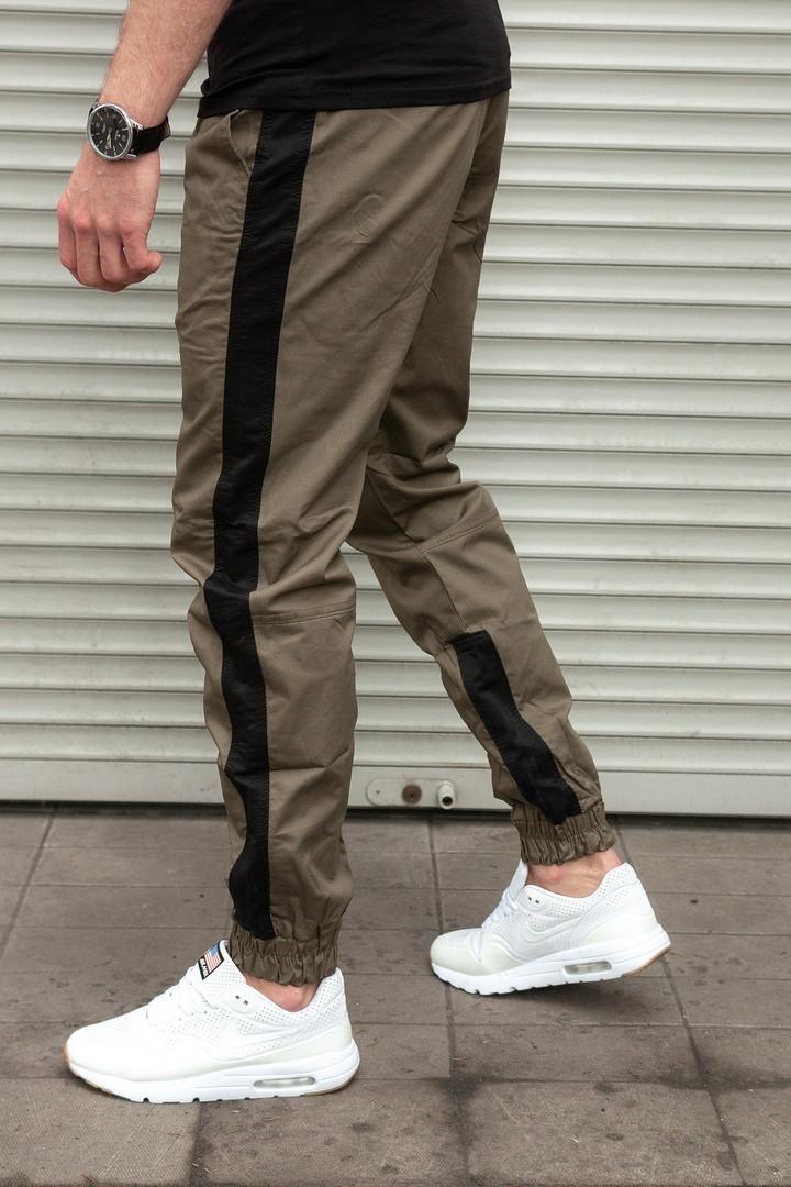 Мужские штаны джоггеры с лампасом Сл 1310