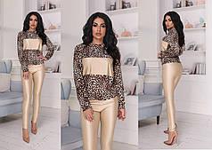 Восхитительный костюм с леопардовым принтом
