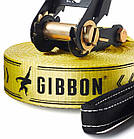 Слэклайн Gibbon Classic line X13 XL 25 m Slackline Set yellow, фото 3
