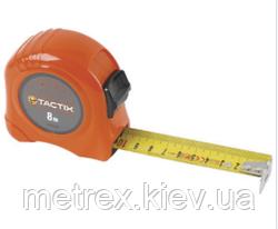 Рулетка измерительная противоударная 8мх25 мм Tactix