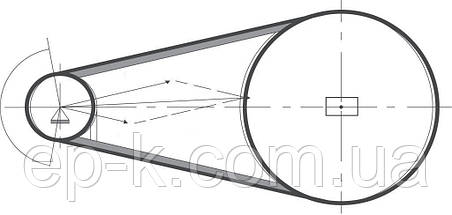 Ремень клиновой  SPA-1180, фото 3