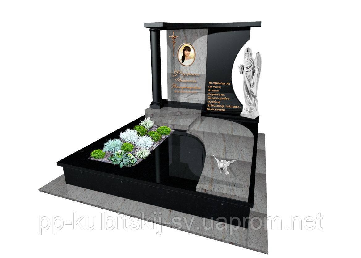 Ексклюзивний пам'ятник з граніту ангелS6050