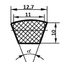 Ремень клиновой  SPA-1357