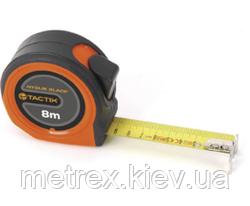 Рулетка измерительная c увеличенным захватом 10мх25 мм. с нейлоновым покрытием Tactix