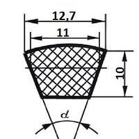 Ремень клиновой  SPA-1400