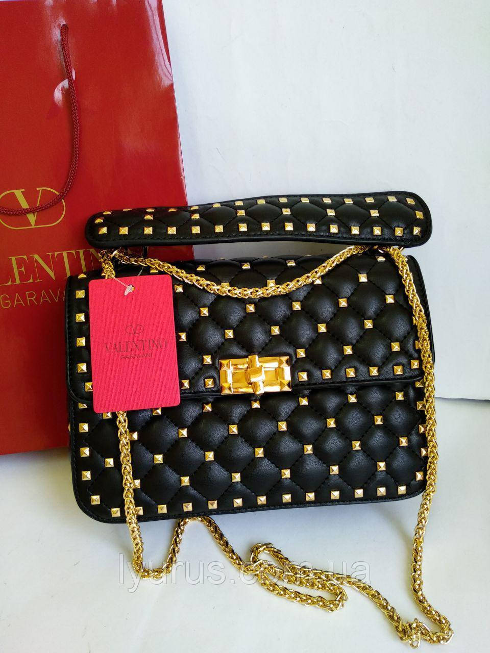 d5b8b56ae970 Женская сумка Valentino черная: продажа, цена в Полтаве. женские ...