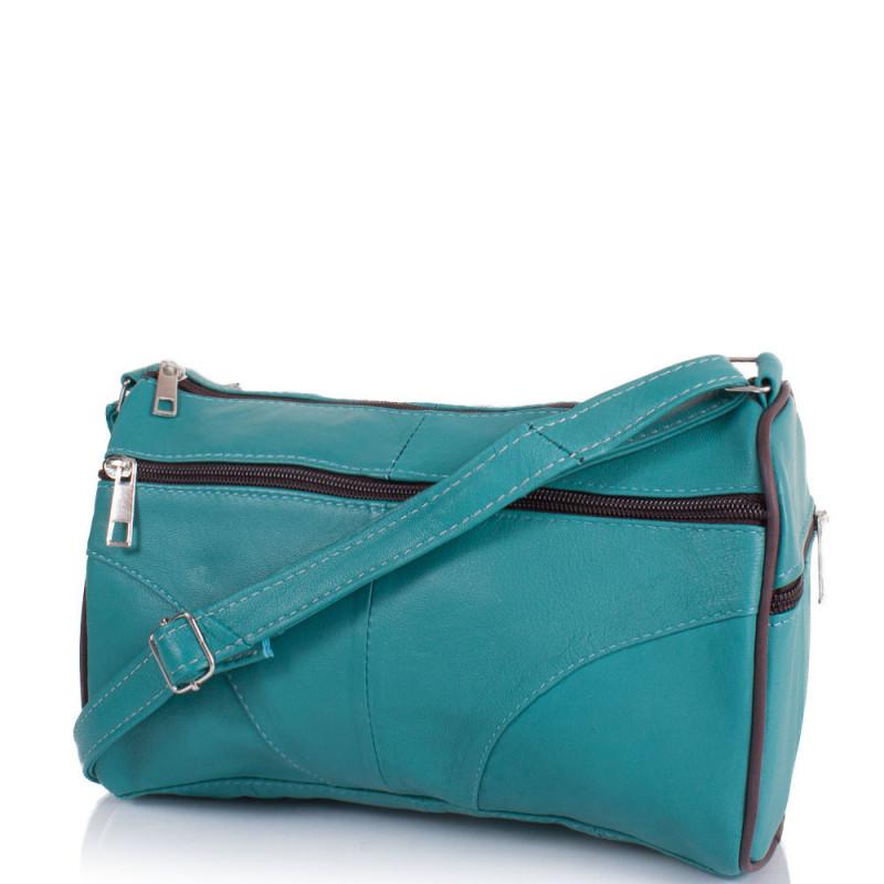 c3fafc860e5e Маленькая женская сумка кросс-боди Yunona 2401-14 кожаная бирюзовая -  Мистер Воллет на