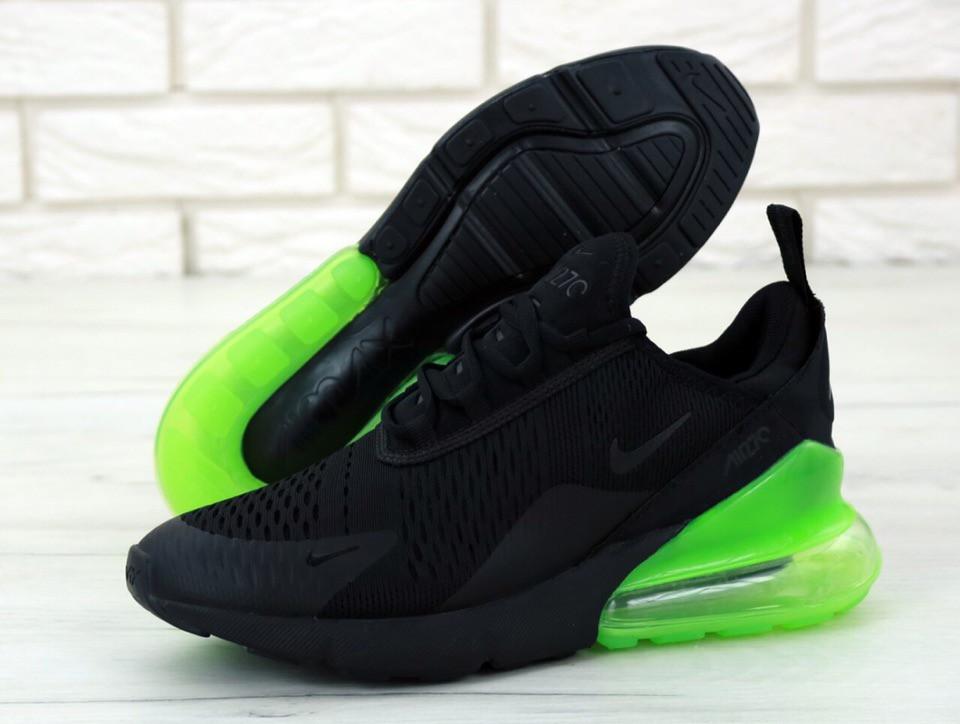 14105381 Мужские Кроссовки Nike Air Max 270 X Black Green