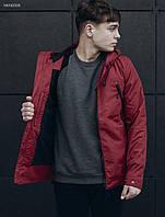 Мужская бордовая куртка Staff melange bordo, фото 1