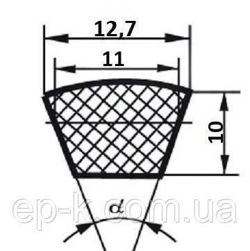 Ремень клиновой  SPA-1650, фото 2