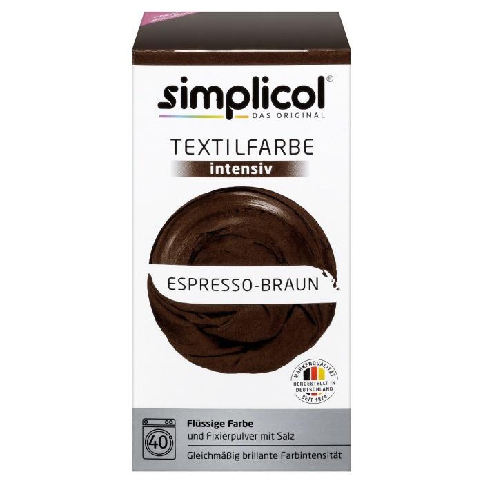 Краска Simplicol для смены цвета 150мл+400г закрепитель эспрессо